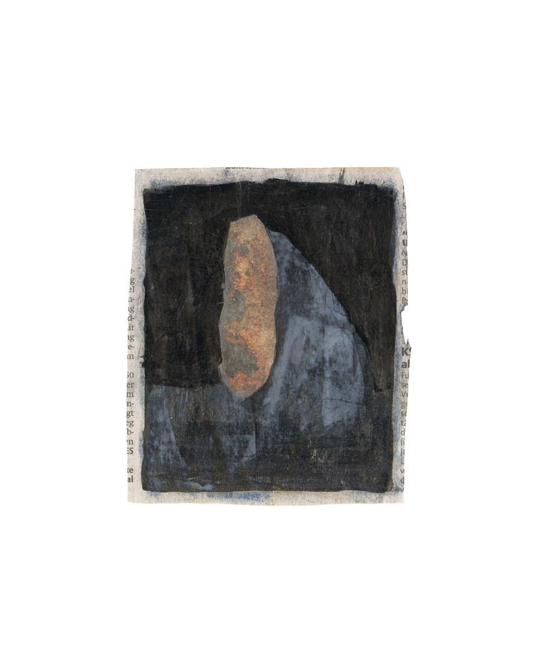 12,5 x 10,4 cm | oil and lacquer on newspaper photo